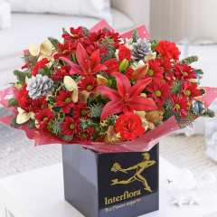 Christmas Cracker Hand-tied from Interflora #ChristmasGiftGuide