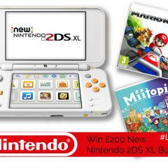 Win an amazing £200 Nintendo Bundle – A New 2DS XL & Two Games! | #LittleStuff24