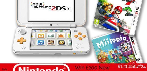Win an amazing £200 Nintendo Bundle – A New 2DS XL & Two Games! | #LittleStuff24
