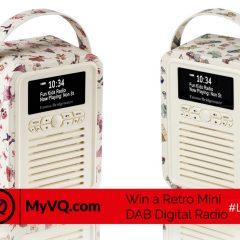 Win a fab £90 Retro Mini DAB Digital Radio from VQ   #LittleStuff24