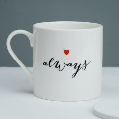 Spotted! Perfect perfect 'Always' mug. For friends, for love, and for Harry Potter fans.