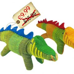 Spotted! SUPER Adorable Crocodile toy – under £10 AND Fair Trade too!