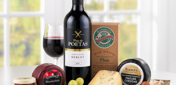 Gourmet Delights Cheese & Wine Hamper from Interflora : Fathers Day Gift Ideas