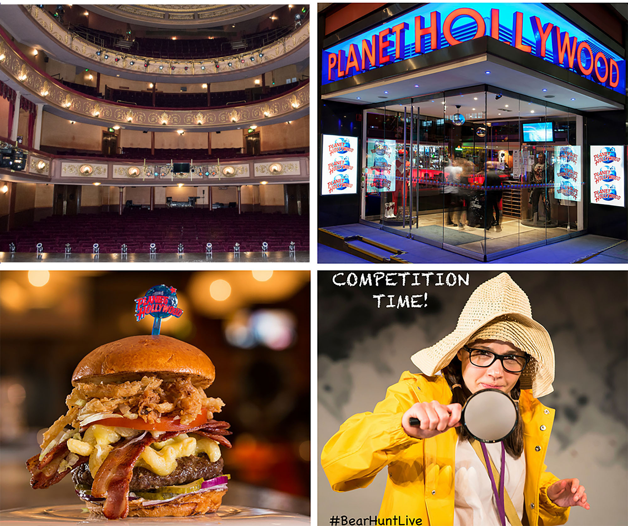 win tickets to we re going on a bear hunt and dinner at planet hollywood in london 39 s west end. Black Bedroom Furniture Sets. Home Design Ideas