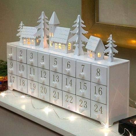 Gorgeous Wooden Advent Calendar Village Littlestuff