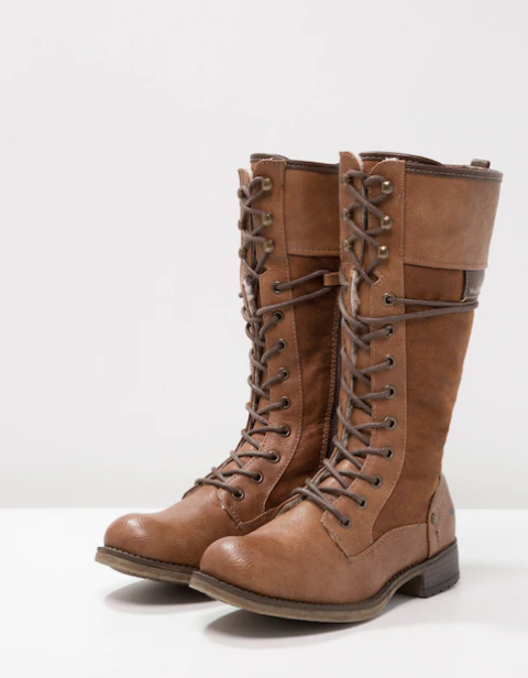 brown leather winter boots for teenagers