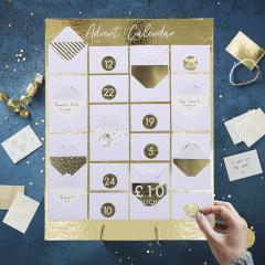 Gold mini envelope advent calendar – Paperchase
