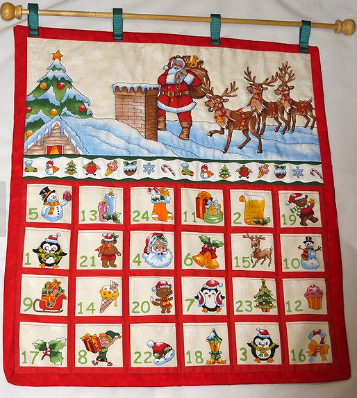 Father Christmas Advent Calendar - Etsy