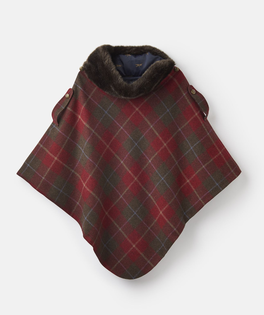 Hazelwood Tweed Poncho with Faux Fur Collar | Pre-Christmas Shopping