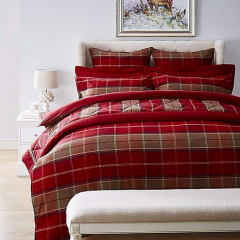 Brushed Cotton Red Duvet Cover and Pillowcase Set | Pre-Christmas Shopping