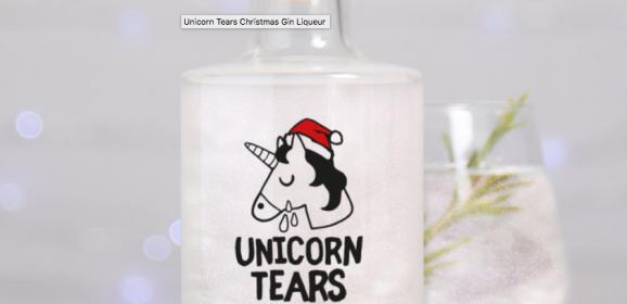 Unicorn Tears Christmas Gin Liqueur | #ChristmasGiftGuide