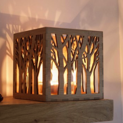 Wooden Candle Holder, Tree Tea Light Lantern | #ChristmasGiftGuide