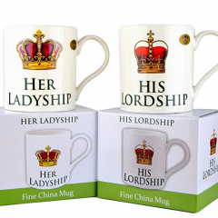 His Lordship & Her Ladyship Fine China Set of 2 Mugs | #ChristmasGiftGuide