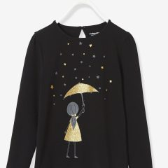 Girls' Long-Sleeved T-shirt with Stylish Print | Pre-Christmas Shopping