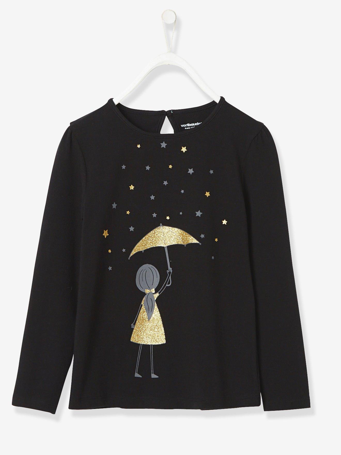 Girls' Long-Sleeved T-shirt with Stylish Print | Pre-Christmas Shopping