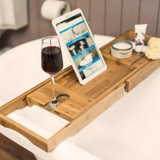 6. Win a Perfect Bamboo Bath Caddy!