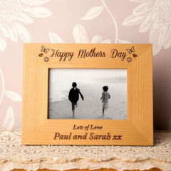Personalised Mothers Day Oak Frame #MothersDay
