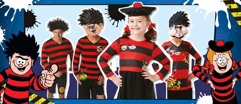 Minnie the Minx Dennis the Menace Girls Costume Kids Fancy dress Outfit Book