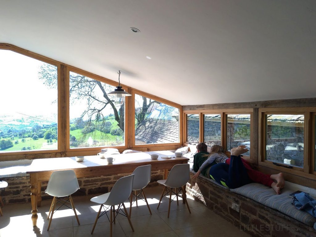 Patrishow Farm with teens in secluded holiday property in the Brecon beacons
