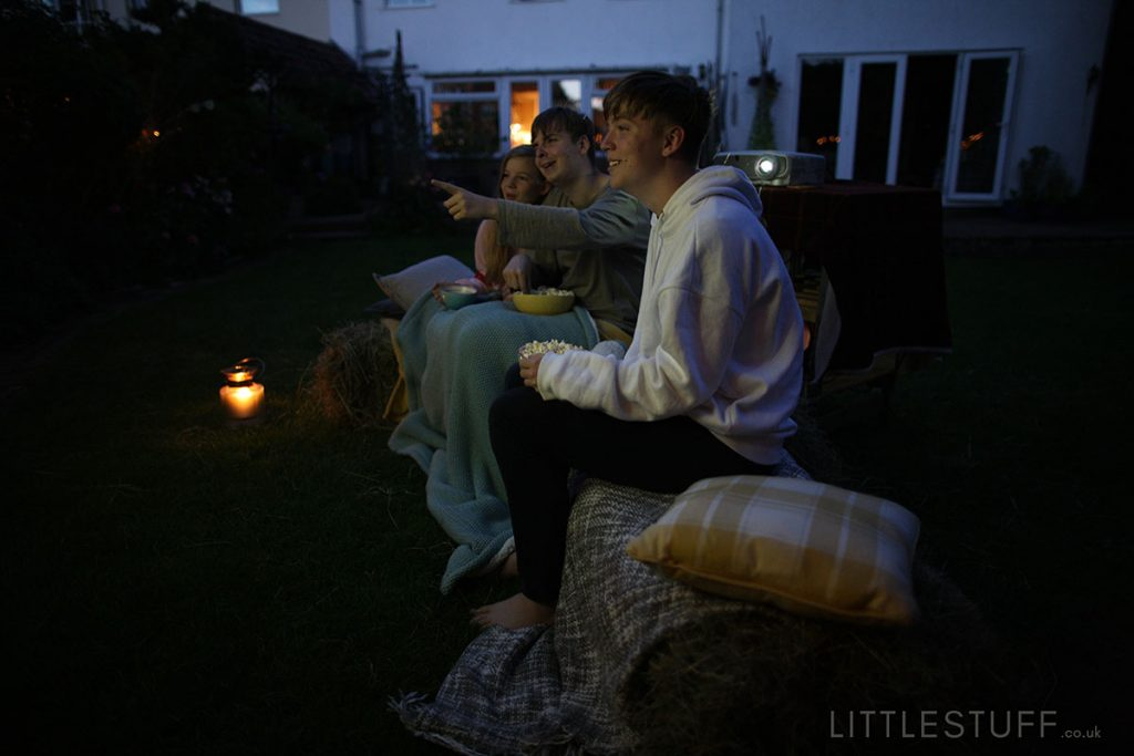outdoor cinema in your back garden for teenagers