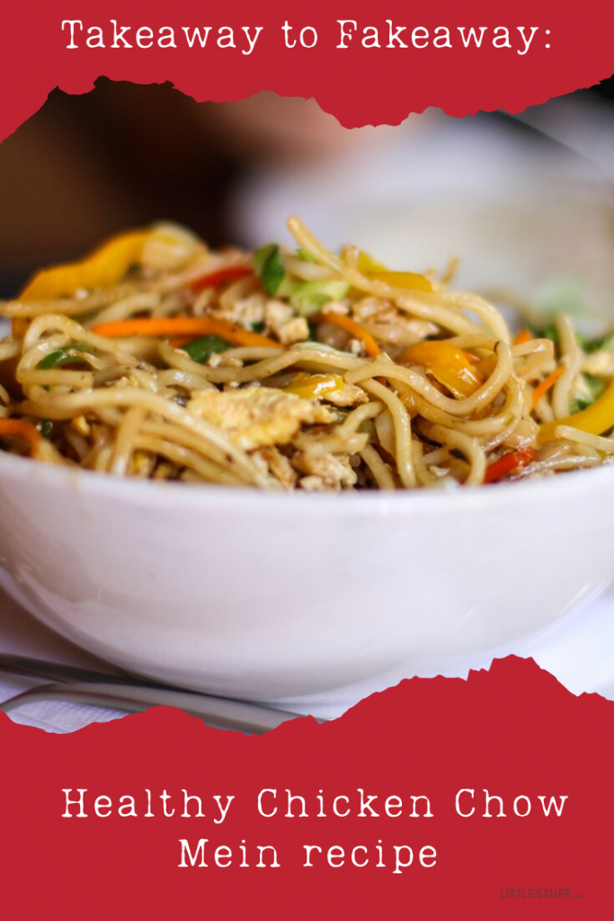 Healthy Chicken Chow Mein recipe - feeds a family