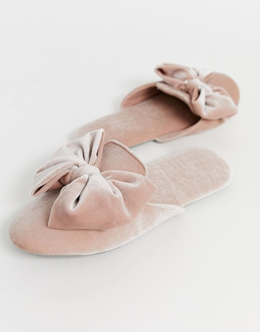 50s women's slippers elegant mules velvet