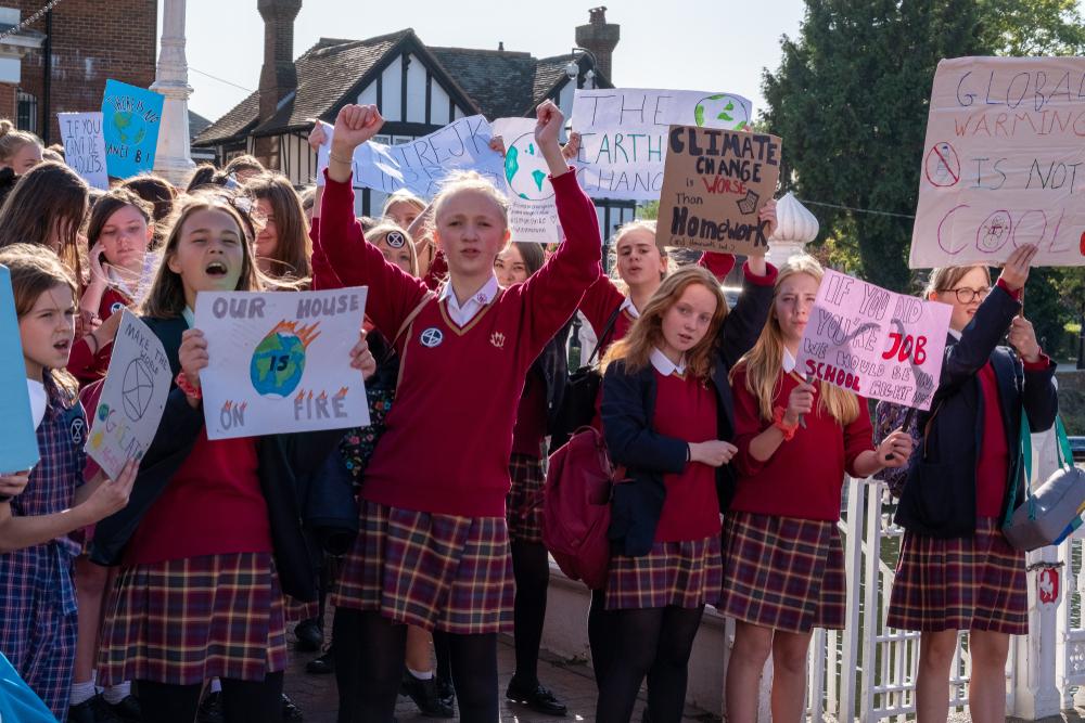 student Extinction Rebellion climate change activists