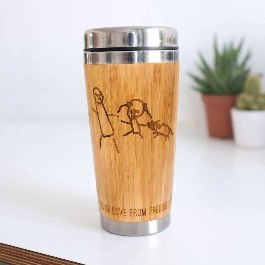 personalised travel mug bamboo