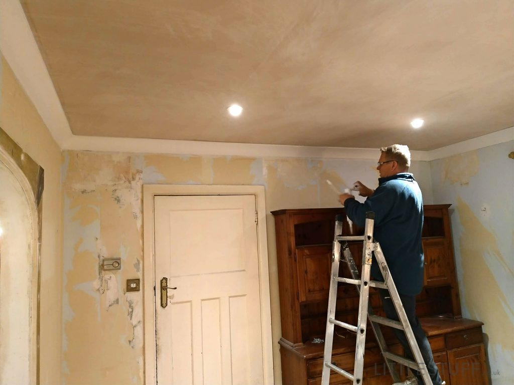 skimmed Plasterboard Ceiling with downlights