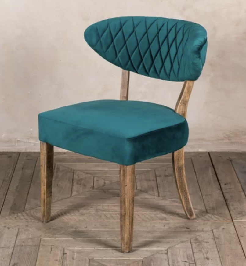 teal retro vintage cocktail chair
