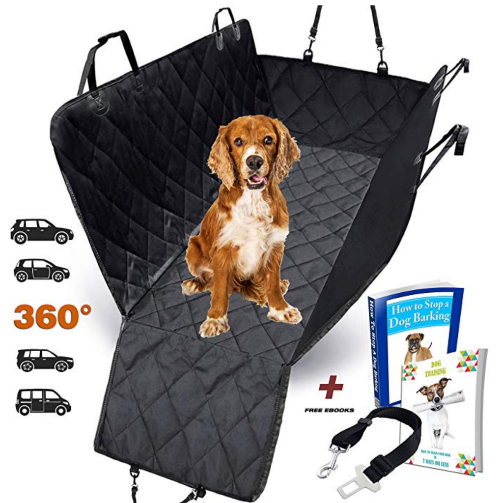 top pet gifts - AMZPET Dog Car Seat Cover for Dogs