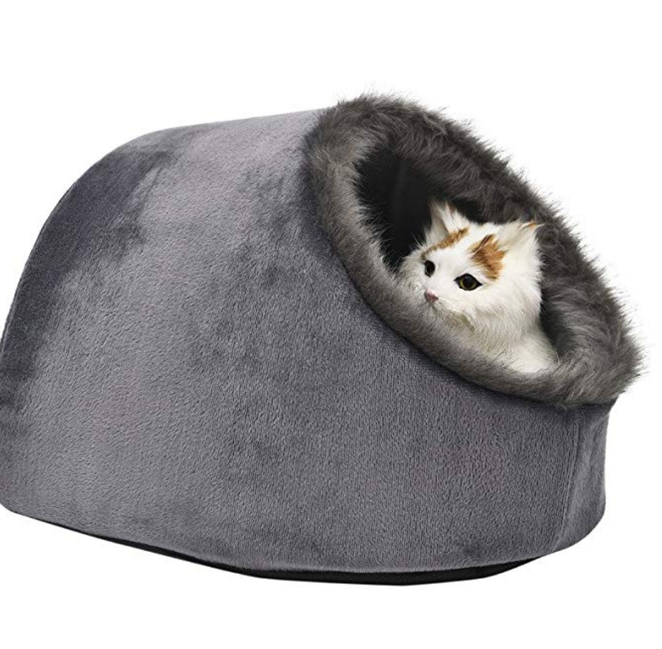 top pet gift - VERTAST Cat Small Dog Cosy Bed Pets Igloo Bed Hideout Cave