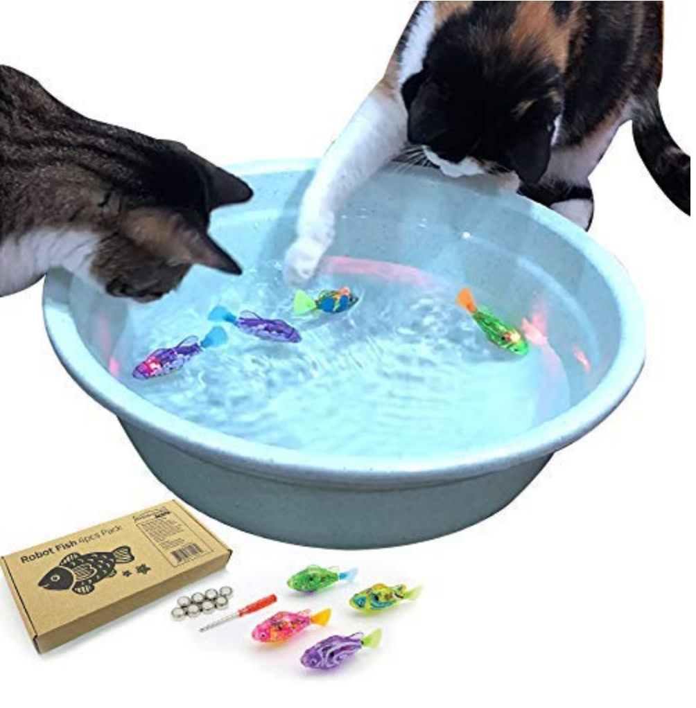 Interactive Swimming Robot Fish Toy  - top pet gifts