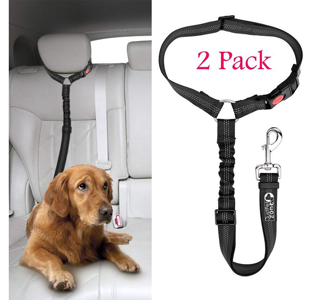 Headrest Dog Car Seat Belt with Anti shock Elastic Bungee Buffer