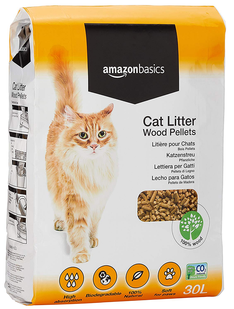 AmazonBasics Cat Litter Wood Pellets 30L  - Amazon top pet buys