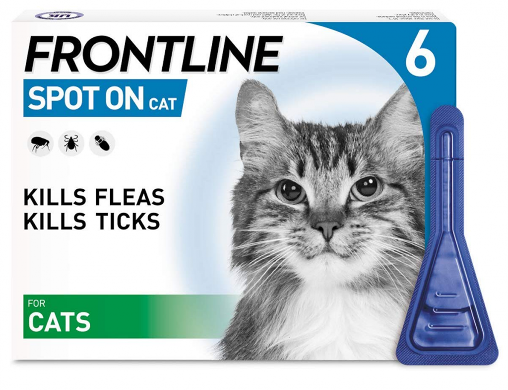 FRONTLINE Spot On Flea & Tick Treatment for Cats 6 Pipettes - Amazon Top Pet Buys