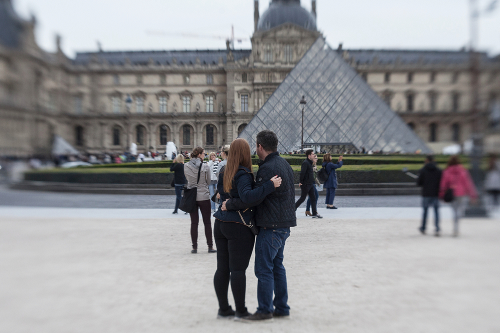 romantic trip to the louvre in paris for valentines day