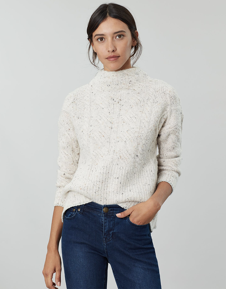 Joyce Cable Knit Jumper - Don't forget we've a code for an extra 20% off clearance items at Joules
