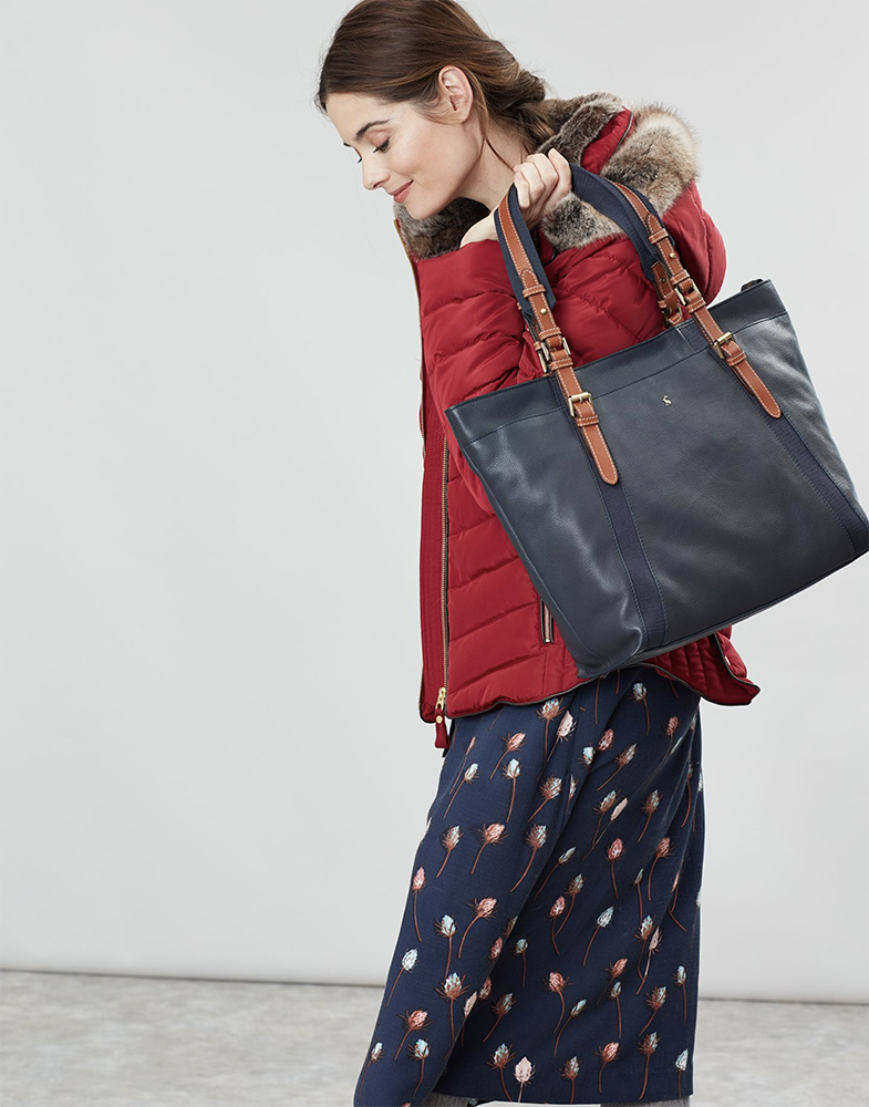Moreton Carriage Leather Large Tote Bag - don't forget we've a code for an extra 20% off clearance items at Joules