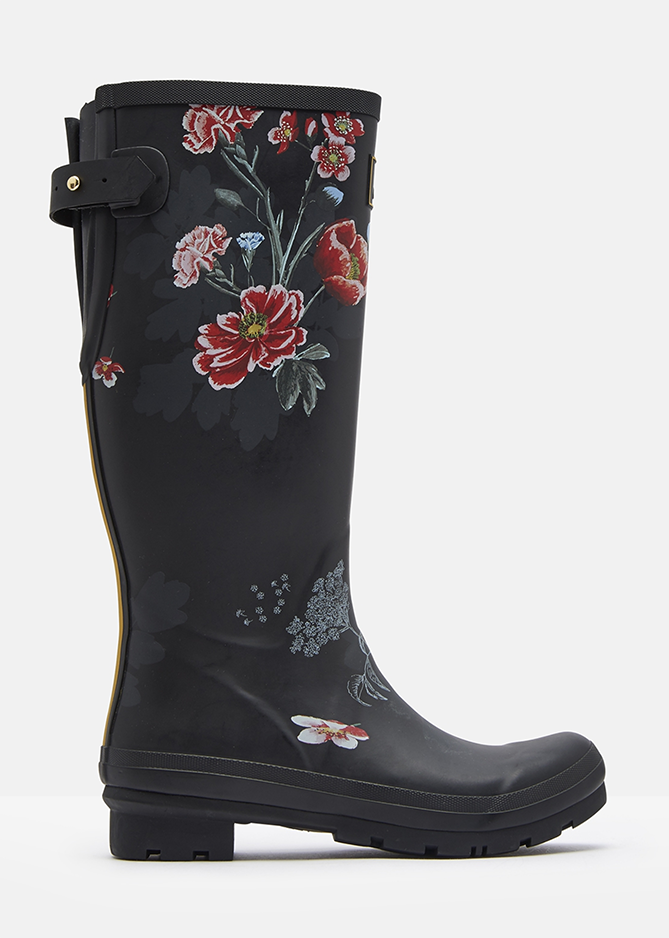 Printed Wellies With Adjustable Back Gusset - Joules Clearance sale