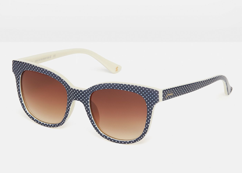 Tresco Black And Creme Polka Dot Sunglasses - Joules Clearance Sale