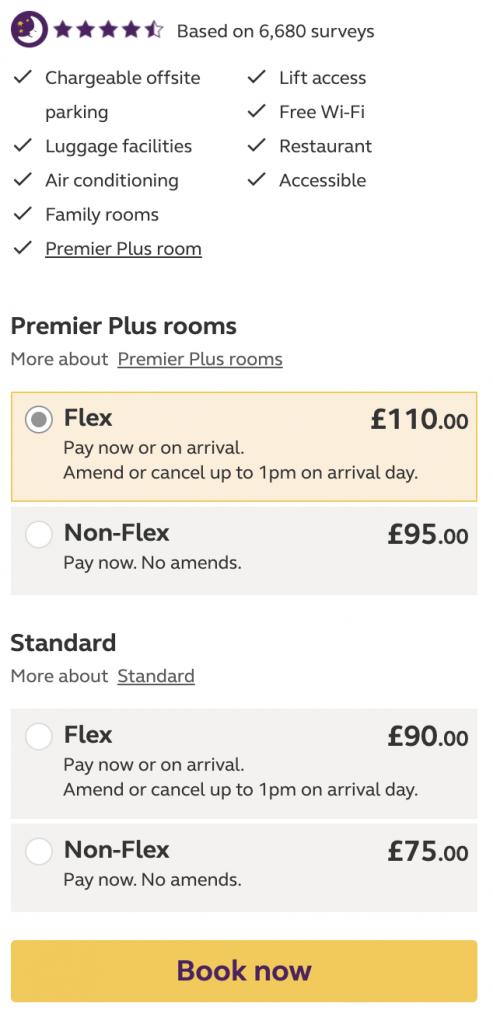 London Premier Inn county hall cheap rates