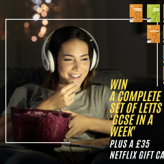 Win a complete Letts 'GCSE In A Week' Bundle PLUS £35 Netflix Gift Card!