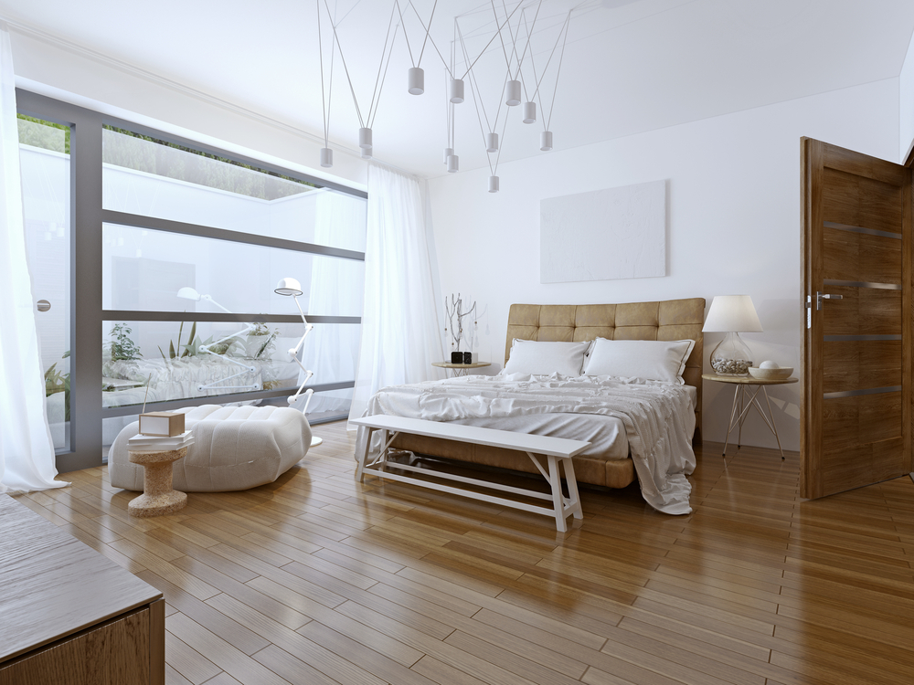 High Gloss Laminate Flooring in bedroom