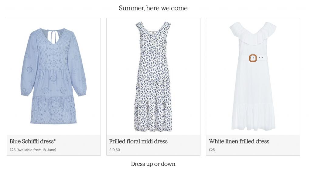 tesco summer dresses