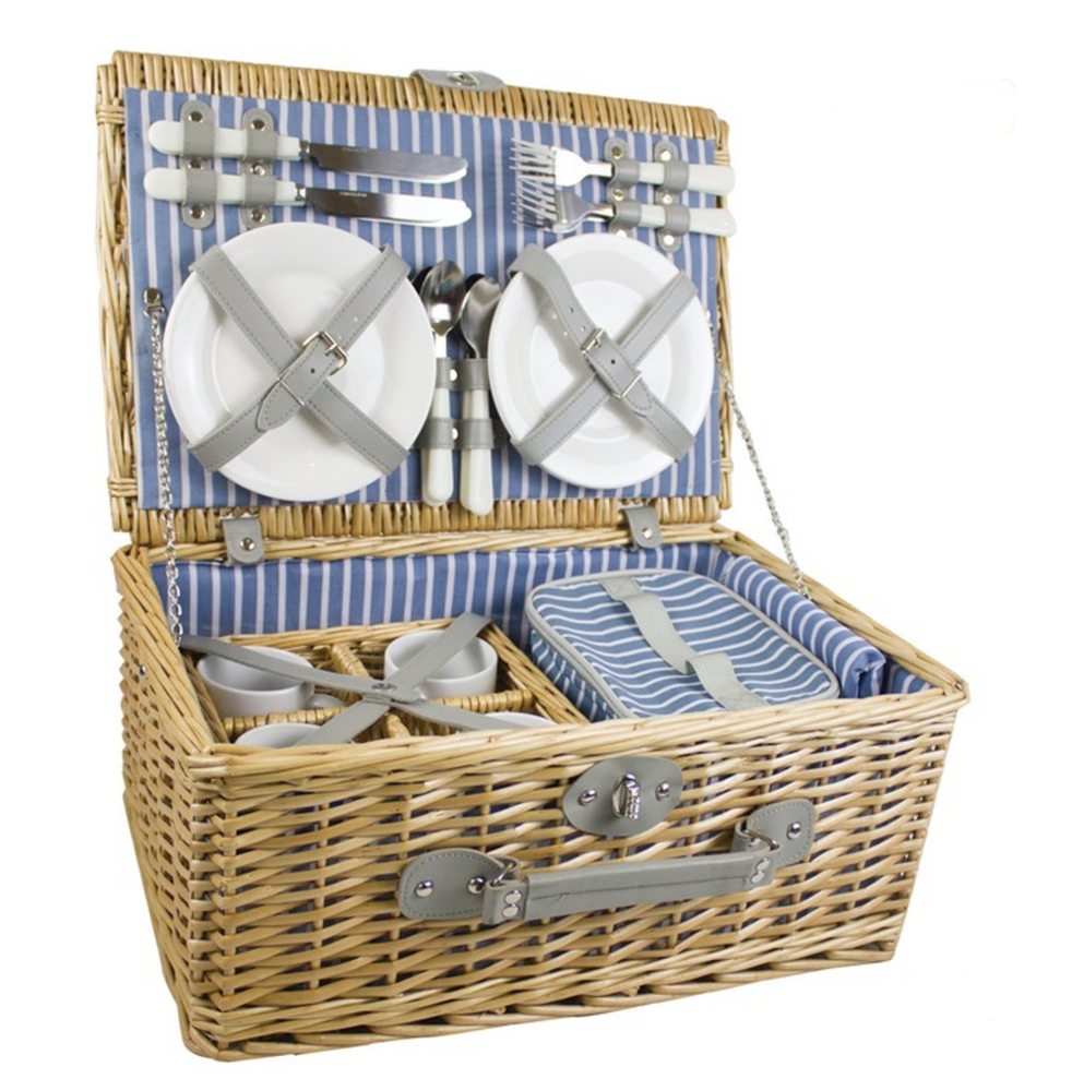 gorgeous picnicware wicker hamper