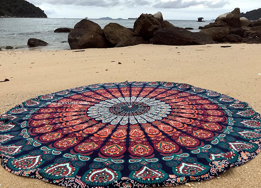 gorgeous picnicware  blanket mandala