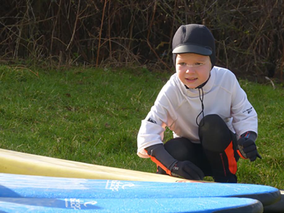Porthcawl Surf School child lesson