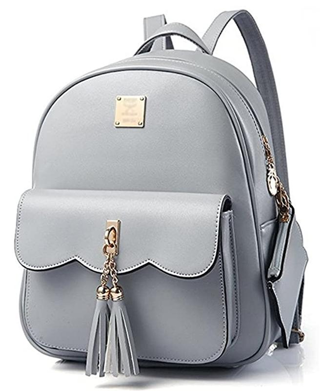 DWE PU Leather Women Backpack