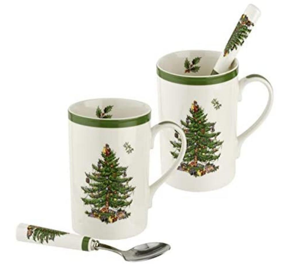 Christmas Mugs for Teens - the classic Spode Christmas Tree.